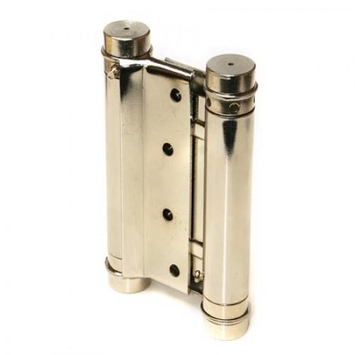 Петля пружинная двойная Amig 3037-100*126 (никель) 9818 (до 24 кг)