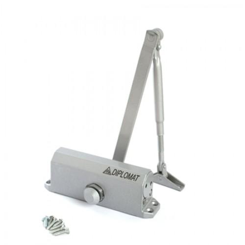 Доводчик дверной Diplomat-602 (серый) (до 50 кг)(распродажа)