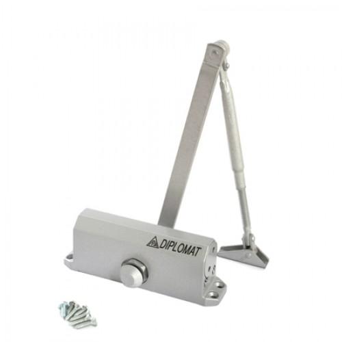 Доводчик дверной Diplomat-603 (серый) (до 80 кг)(распродажа)