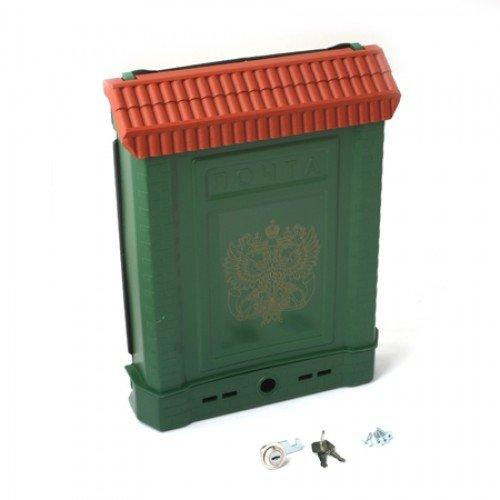 Ящик почтовый ПРЕМИУМ с металлическим  замком (зеленый с орлом)