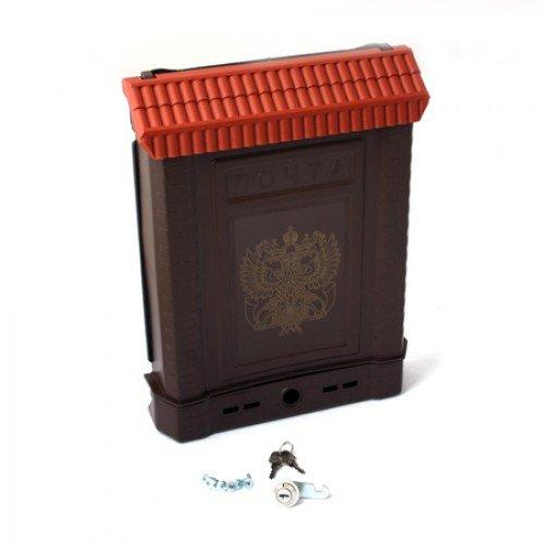 Ящик почтовый ПРЕМИУМ с металлическим замком (коричневый с орлом)