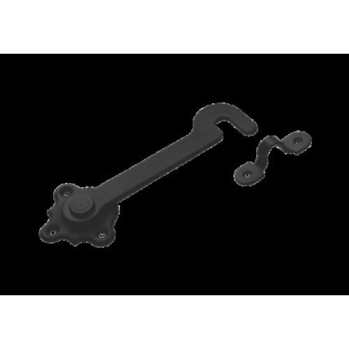 Крючок дверной Домарт 150мм (черный)