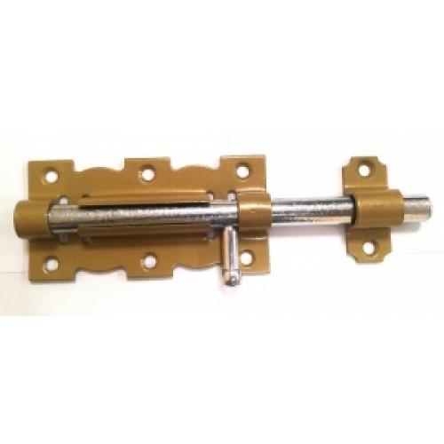 Задвижка дверная ЗД-110 зол.металик/цинк
