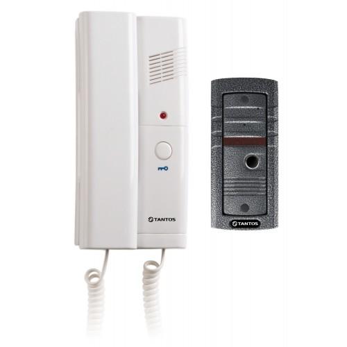 Комплект аудиодомофона.Вызывная панель,аудиотрубка,накладной или врезной(TS-203 Kit)