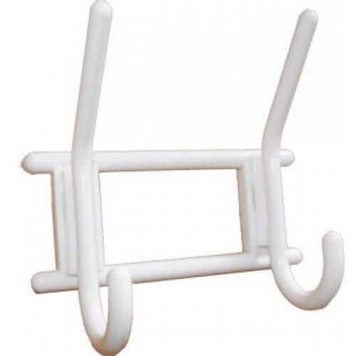 2-х крючковая вешалка снежно-белая, пласт. (40)