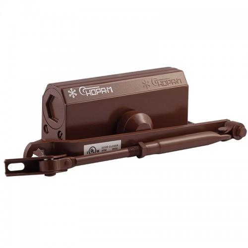 Доводчик Нора-М №3S малый(до 80 кг)коричневый морозостойкий