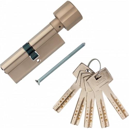 Европрофильный цилиндр ABUS M12R430 ключ/вертушка 40-40 (80мм) NI (5 key)
