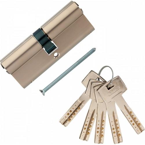 Европрофильный цилиндр ABUS M12R410 ключ/ключ 40-40 (80мм) NI (5 key)