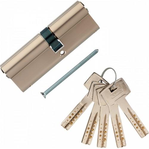 Европрофильный цилиндр ABUS M12R410 ключ/ключ 40-50 (90мм) NI (5 key)
