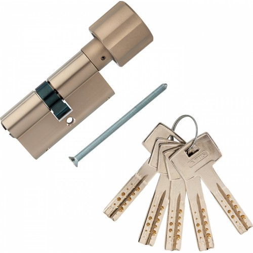 Европрофильный цилиндр ABUS M12R430 ключ/вертушка 35-35 (70мм) NI (5 key)
