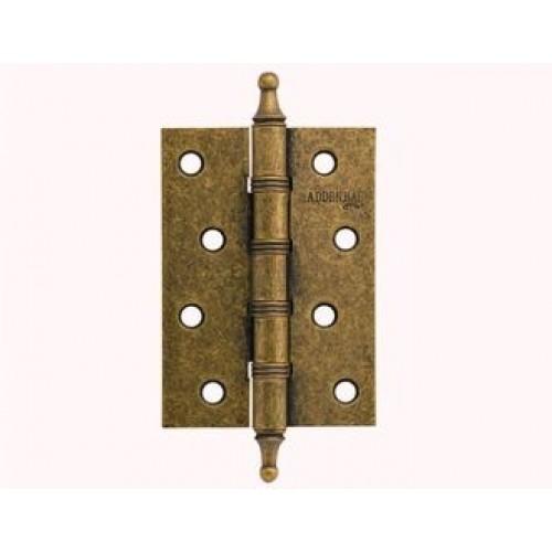 Петля дверная с четырьмя подшипниками ADDEN BAU. 100x70x2.5 4W AGED BRONZE(цвет СОСТАРЕННАЯ БРОНЗА)