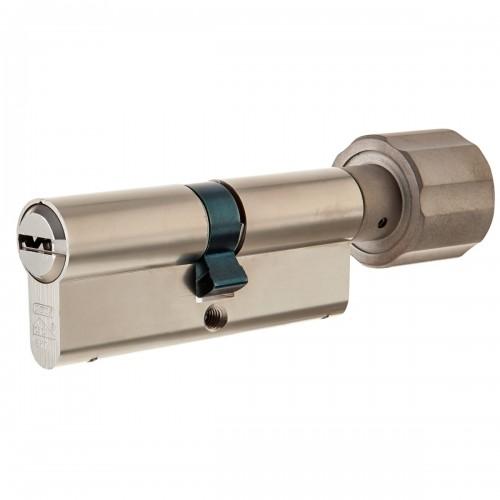 Европрофильный цилиндр ABUS D12R430 ключ/вертушка 35-35 (70мм) NI (5 key)