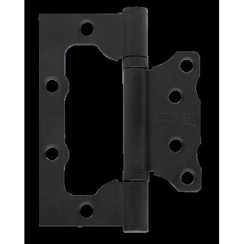Петля дверная с 2 подшипниками( накладная) ADDEN BAU.100X75X2.5 BUT BLACK (цвет ЧЁРНЫЙ)